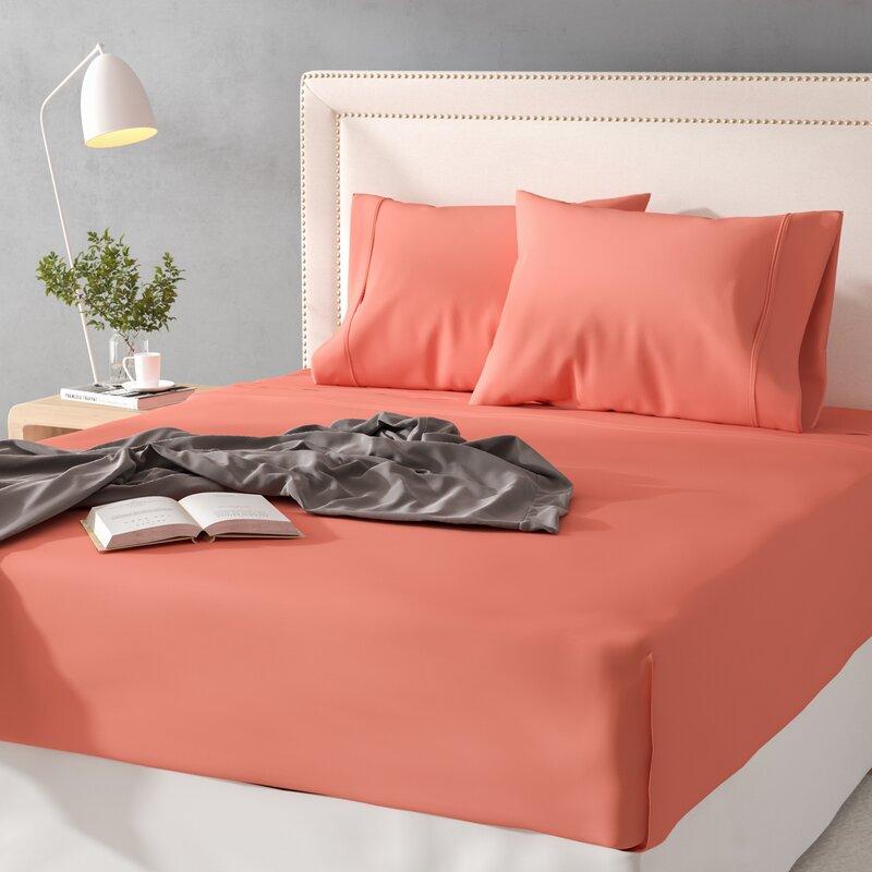 100/% Egyptian Cotton 300 Thread Count Bedding Fitted Flat Sheet Duvet Quilt Set