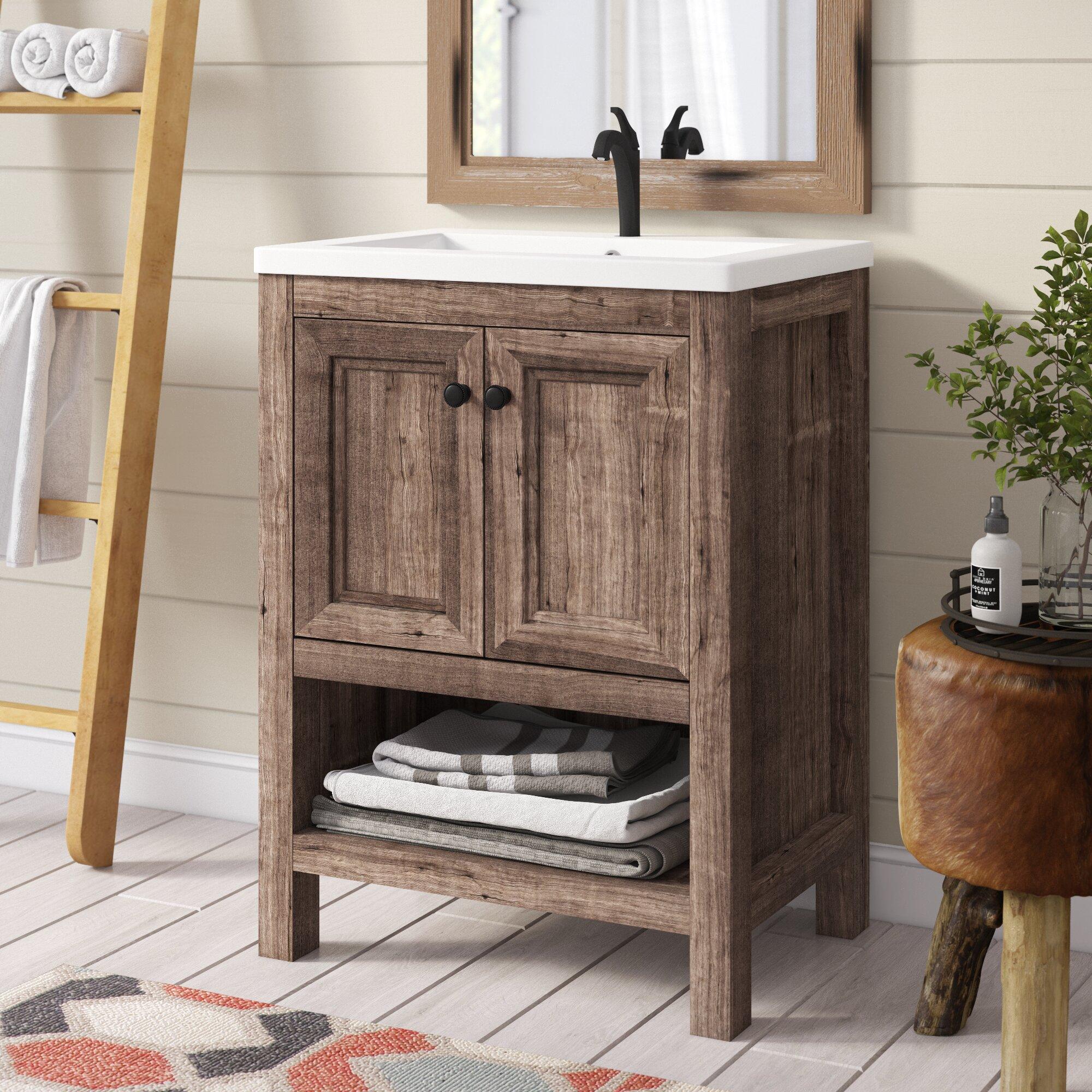 Union Rustic Nicholle 24 Single Bathroom Vanity Set Reviews Wayfair