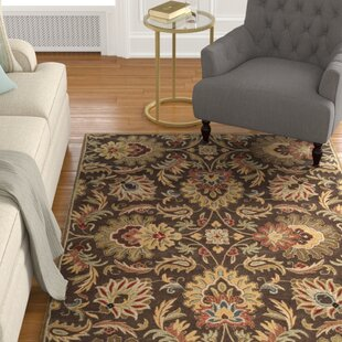 Camden Tufted Wool Chocolate Area Rug by Charlton Home