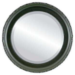 Astoria Grand Reposa Framed Round Accent Mirror