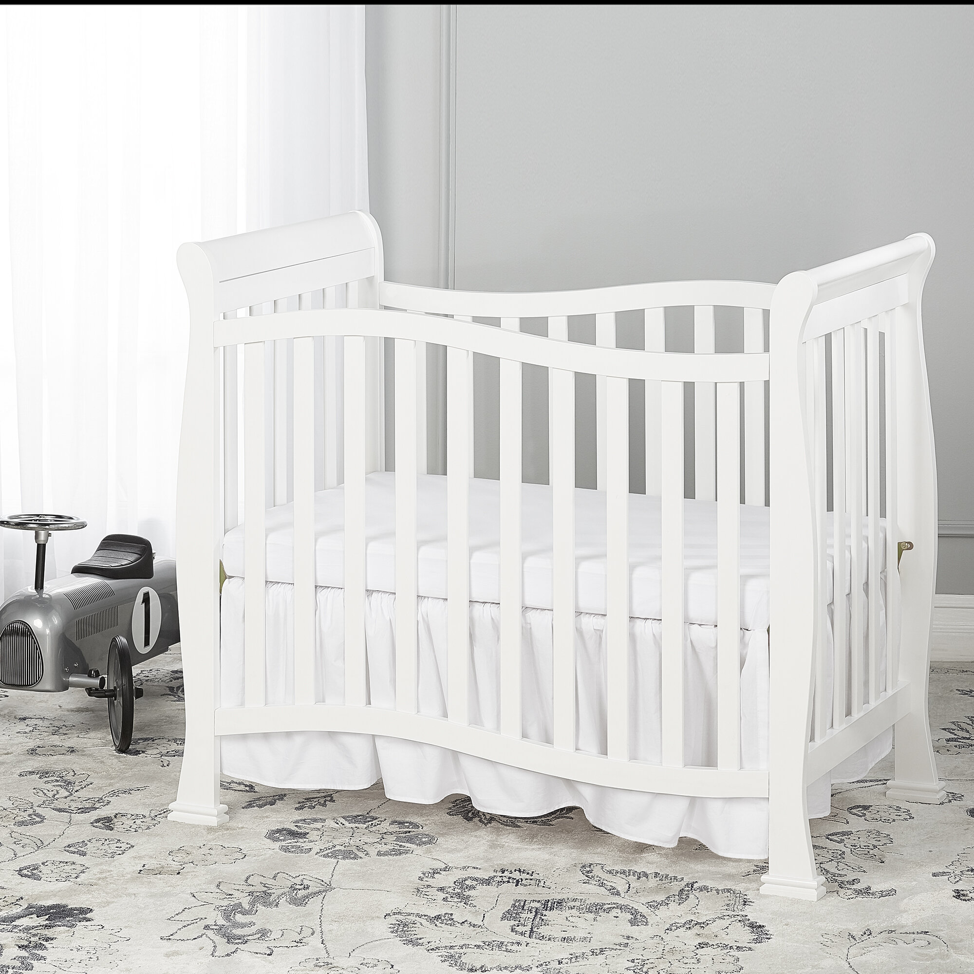 in itm black mini baby furniture bed toddler convertible nursery crib new ebay cribs