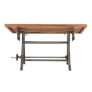 Christenson Reclaimed Adjustable Solid Wood Drafting Table