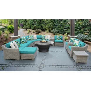 Coast 12 Piece Sectional Seating Group with Cushions