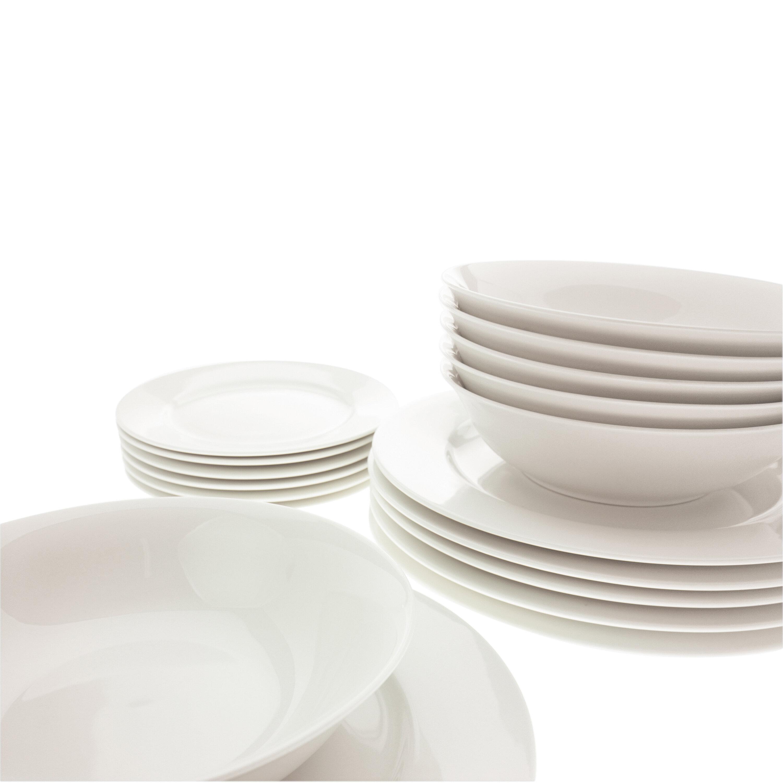 Maxwell u0026 Williams White Basics European 18 Piece Dinnerware Set Service for 6 u0026 Reviews | Wayfair  sc 1 st  Wayfair & Maxwell u0026 Williams White Basics European 18 Piece Dinnerware Set ...