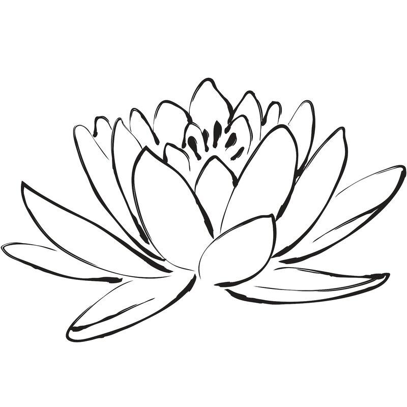 Wallpops digital lotus flower wall decal wayfair digital lotus flower wall decal mightylinksfo