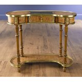 Eidson Single Drawer Kidney Shape Console Table by Astoria Grand