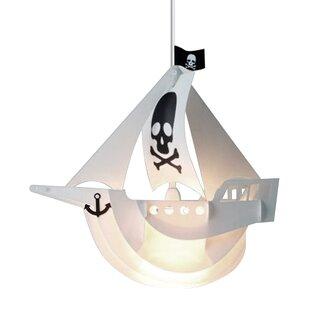 Pirate Ship Plastic Novelty Pendant Shade by MiniSun