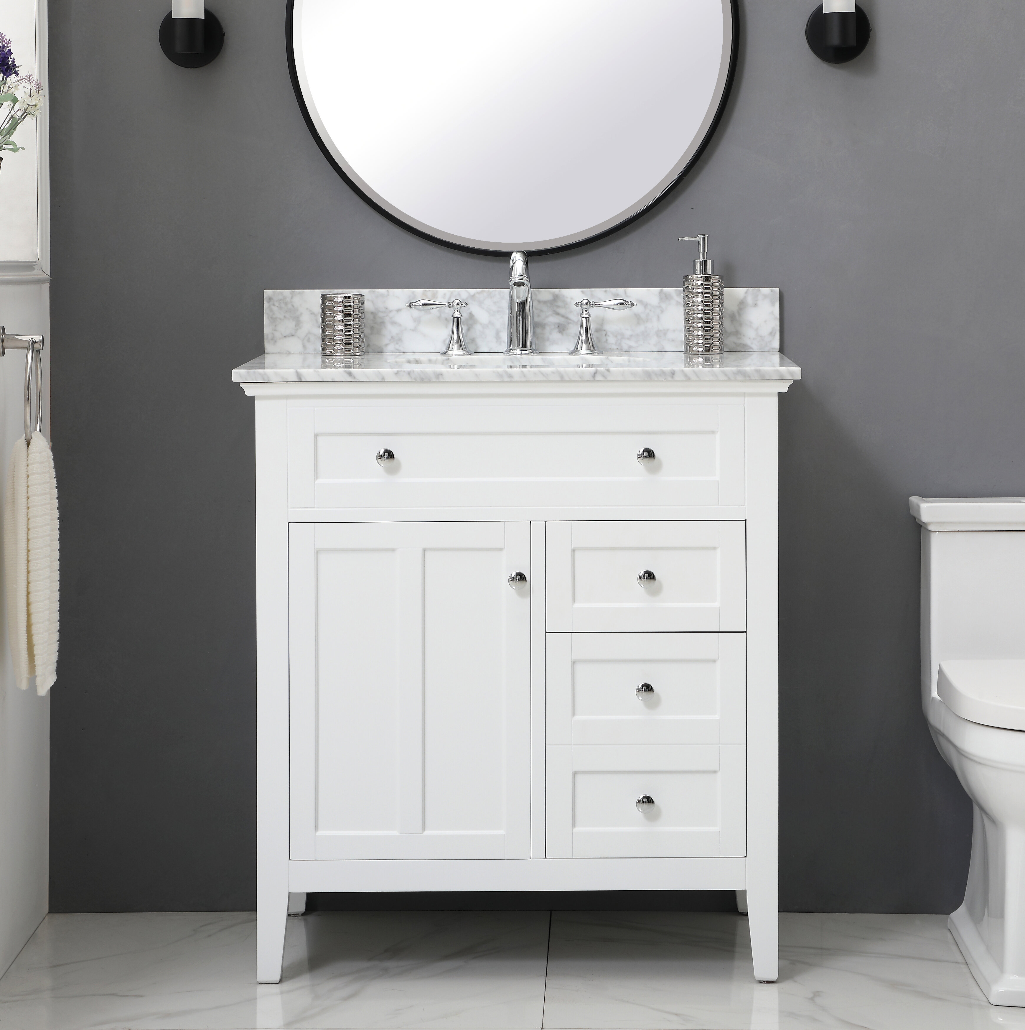 Benoit 32 Single Bathroom Vanity Set