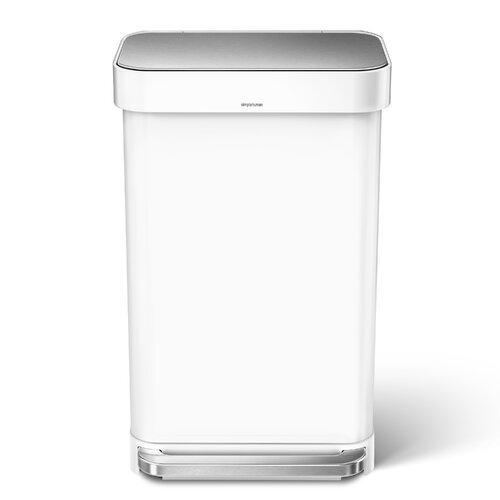 45 L Mülleimer aus Stahl simplehuman Farbe: Weißer Stahl | Küche und Esszimmer > Küchen-Zubehör | simplehuman