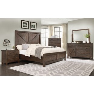 Arciniega Rustic Panel 4 Piece Bedroom Set