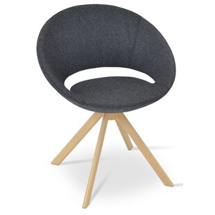 Crescent Sword Swivel Papasan Chair