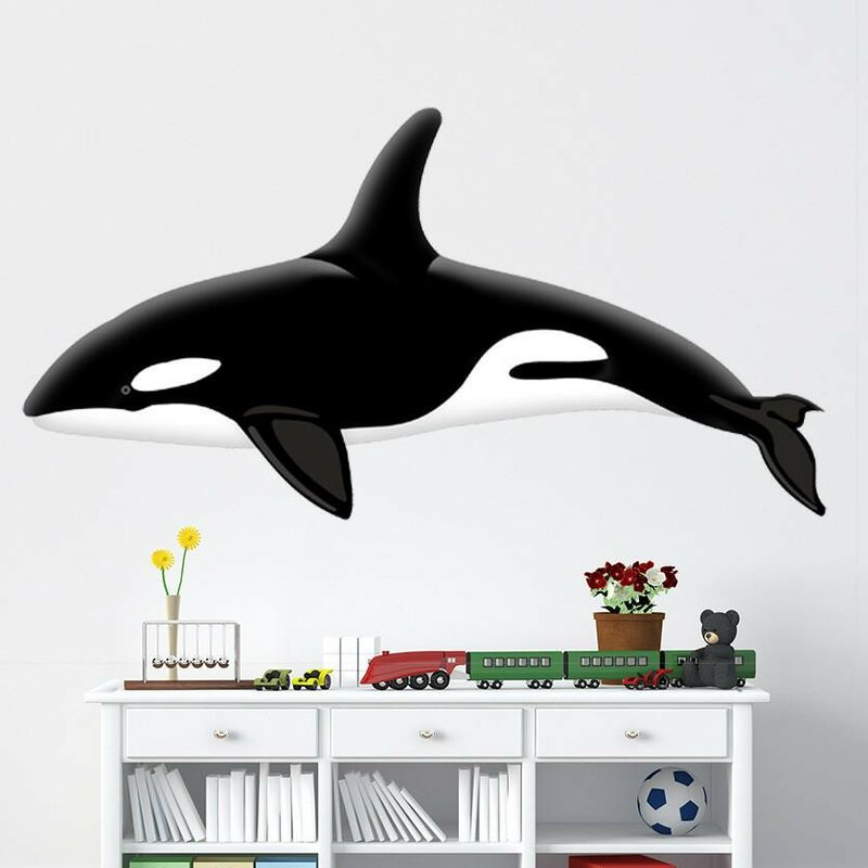 Style And Apply Colorful Orca Ii Wall Decal Wayfair