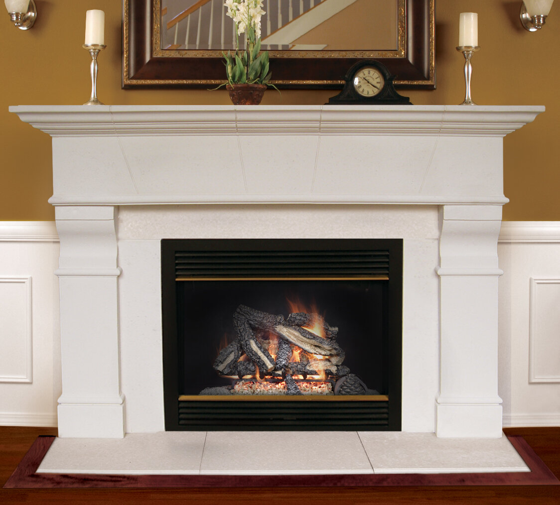 p stands stone gray in highland decorators fireplace faux electric mantel collection home tv