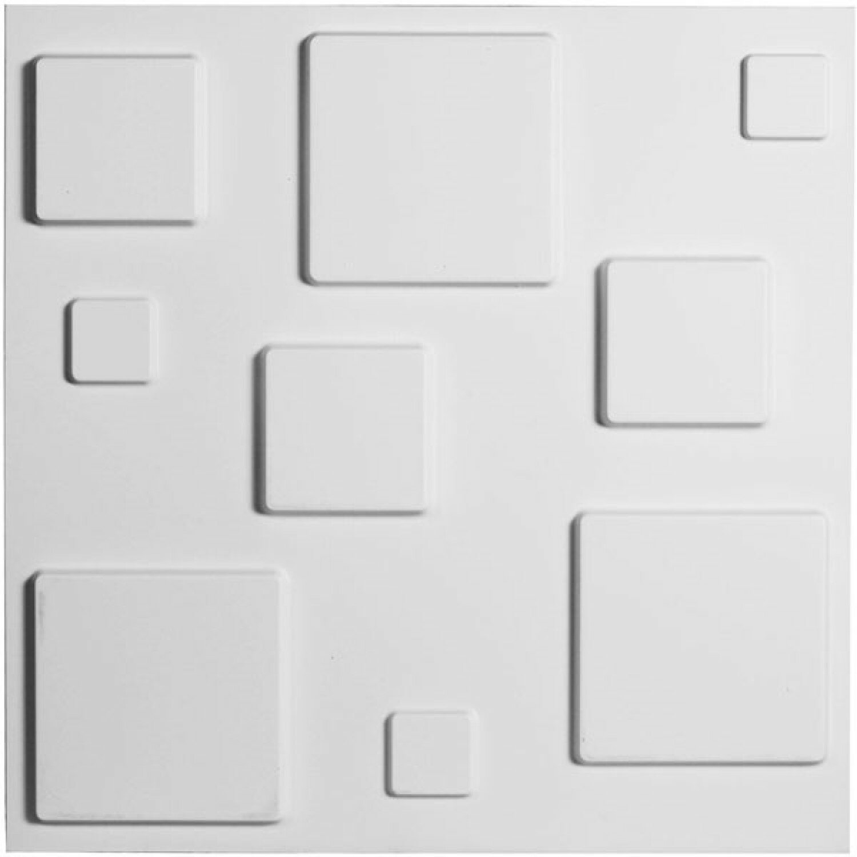 Orren Ellis Barquentine 19 7 X 19 7 Vinyl Wall Paneling In White Wayfair