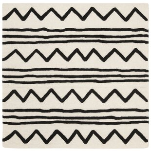 Brenner Hand-Tufted Wool Ivory/Black Area Rug by Mack & Milo