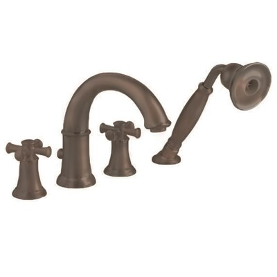 Portsmouth Tub Filler with Cross Handle and Personal Shower American Standard Color: Oil Rubbed Bronze