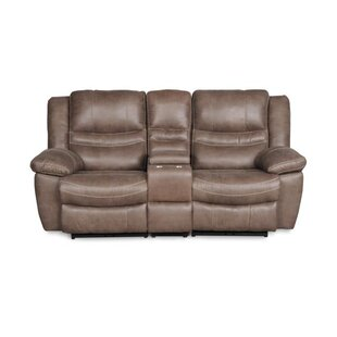 Du Reclining Loveseat with Console Red Barrel Studio