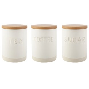 Origins Coffee Tea Sugar Jar Set Of 3