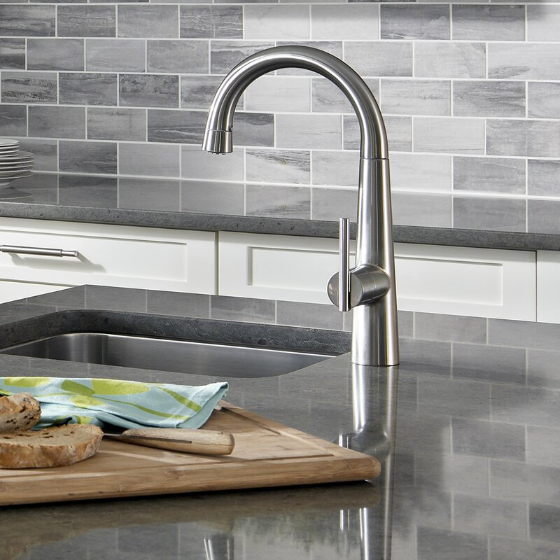 american standard edgewater pull-down kitchen faucet with select