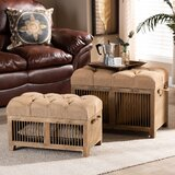 Holt Tufted Storage Ottoman by Gracie Oaks