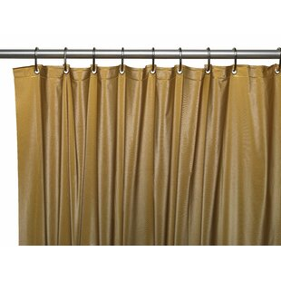 Hotel 8 Gauge Vinyl Single Shower Curtain Liner with Weighted Magnets and Metal Grommets