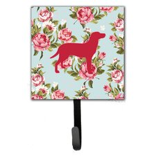 Labrador Shabby Elegance Roses Wall Hook by Caroline's Treasures