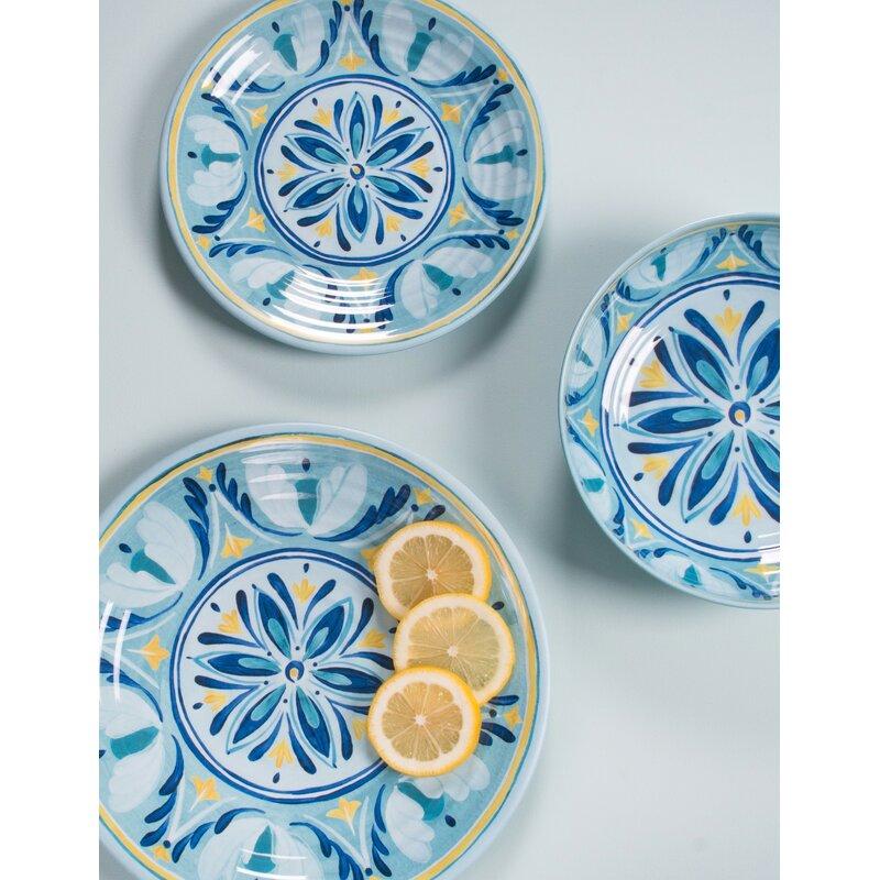 Hubler Medallion 12 Piece Melamine Dinnerware Set Service for 4  sc 1 st  Wayfair & Charlton Home Hubler Medallion 12 Piece Melamine Dinnerware Set ...