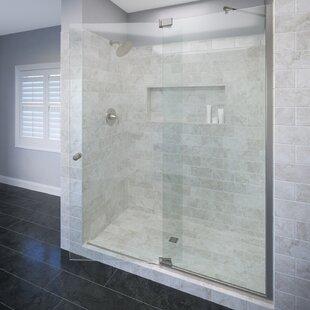 Best Deals Cantour 36 x 76 Pivot Door and Panel Shower Door ByBasco
