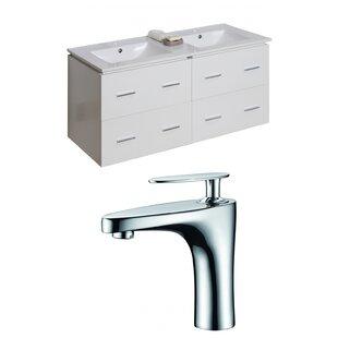 Kyra 48 Rectangle Glaze Double Bathroom Vanity Set