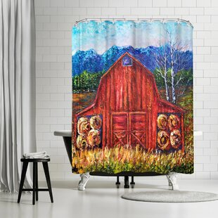 OLena Art Barn Tiff Single Shower Curtain