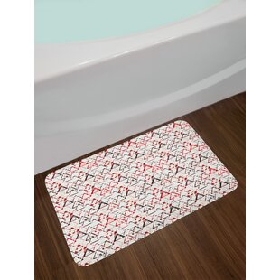Overlapping Round Edged Triangles Bath Rug