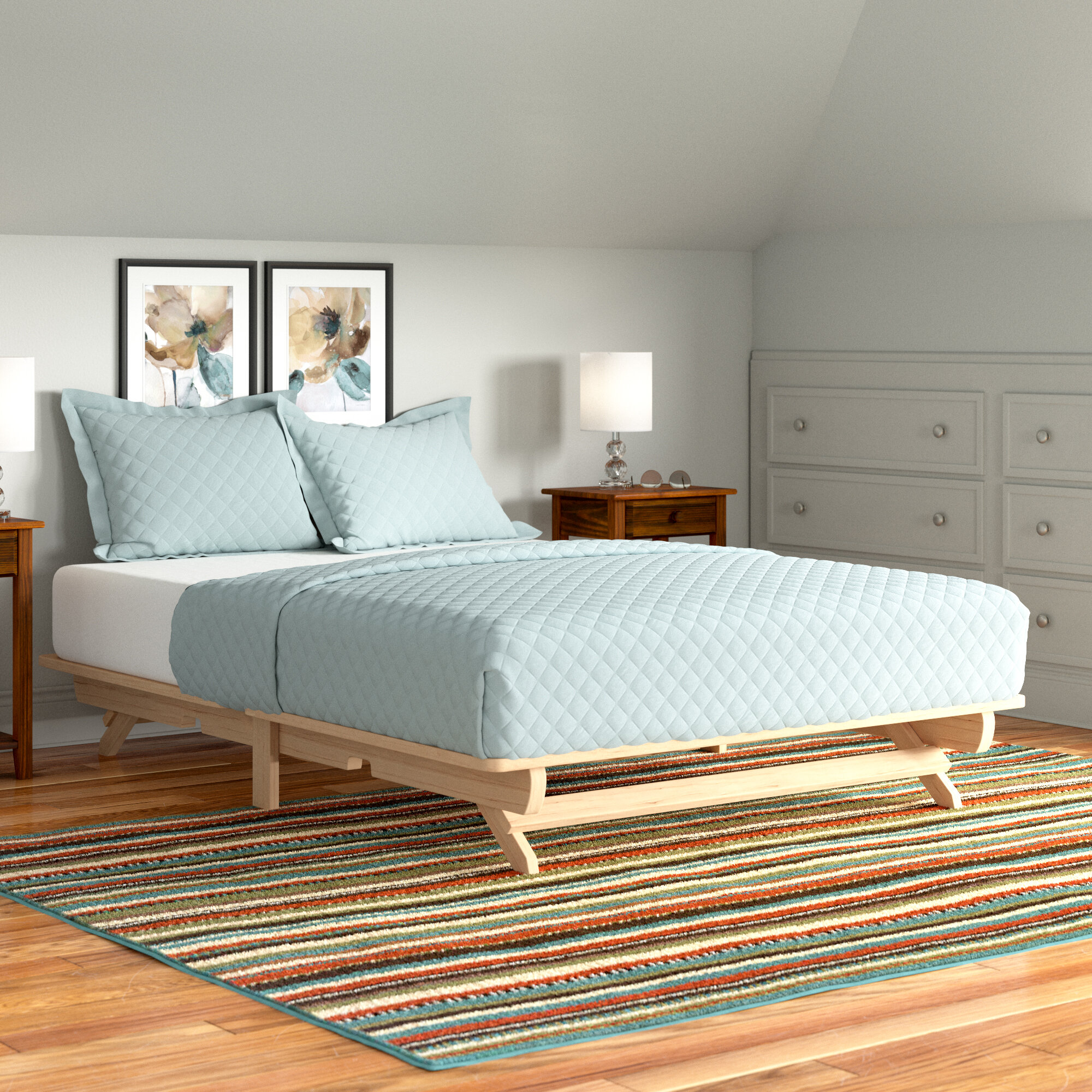 Picture of: Andover Mills Evie Solid Wood Platform Bed Reviews