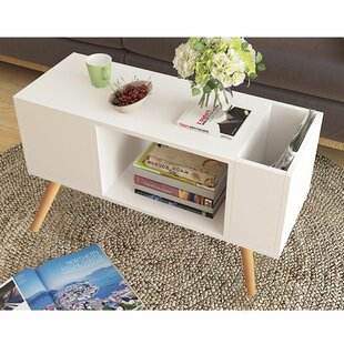 Theresa Modern End Table with Storage by George Oliver