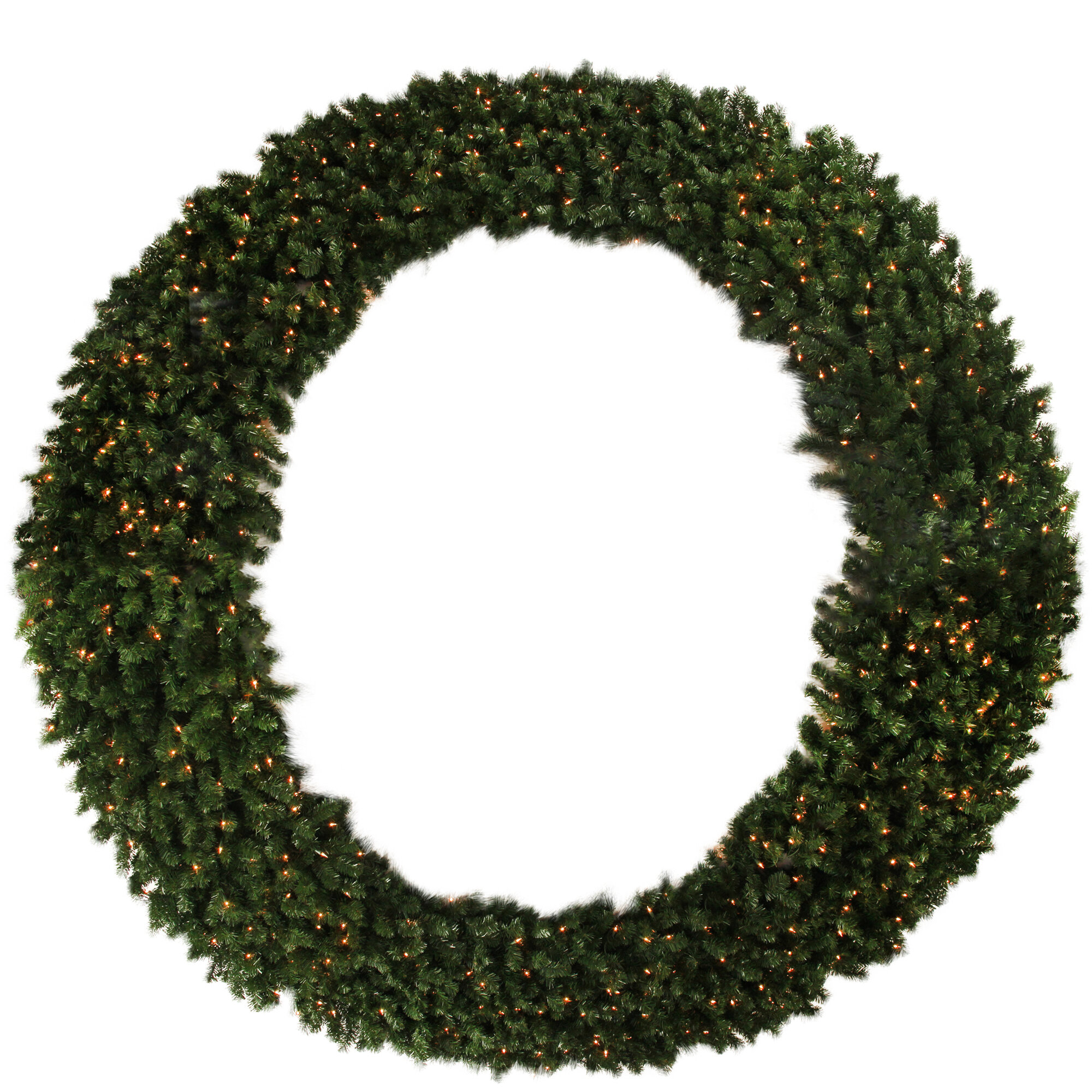 Northlight Pre Lit Deluxe Windsor Pine Commercial Size Artificial Christmas 96 Lighted Wreath Wayfair