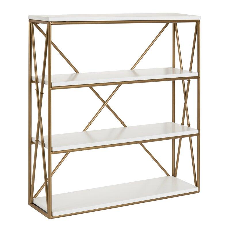 Quillen 4-Layer Modern Luxe Wooden Wall Shelf