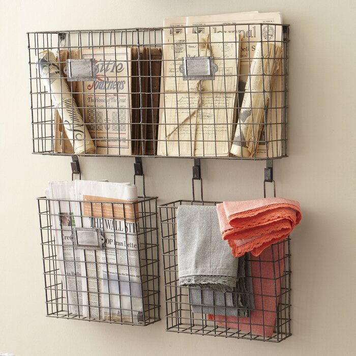 4 75 X 22 5 25 Wire Basket Wall Organizer