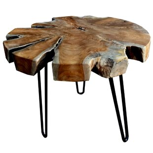 Bargain Teak Trunk Accent End Table ByD-Art Collection