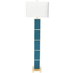 Teal floor lamps wayfair peacock 645 floor lamp mozeypictures Image collections