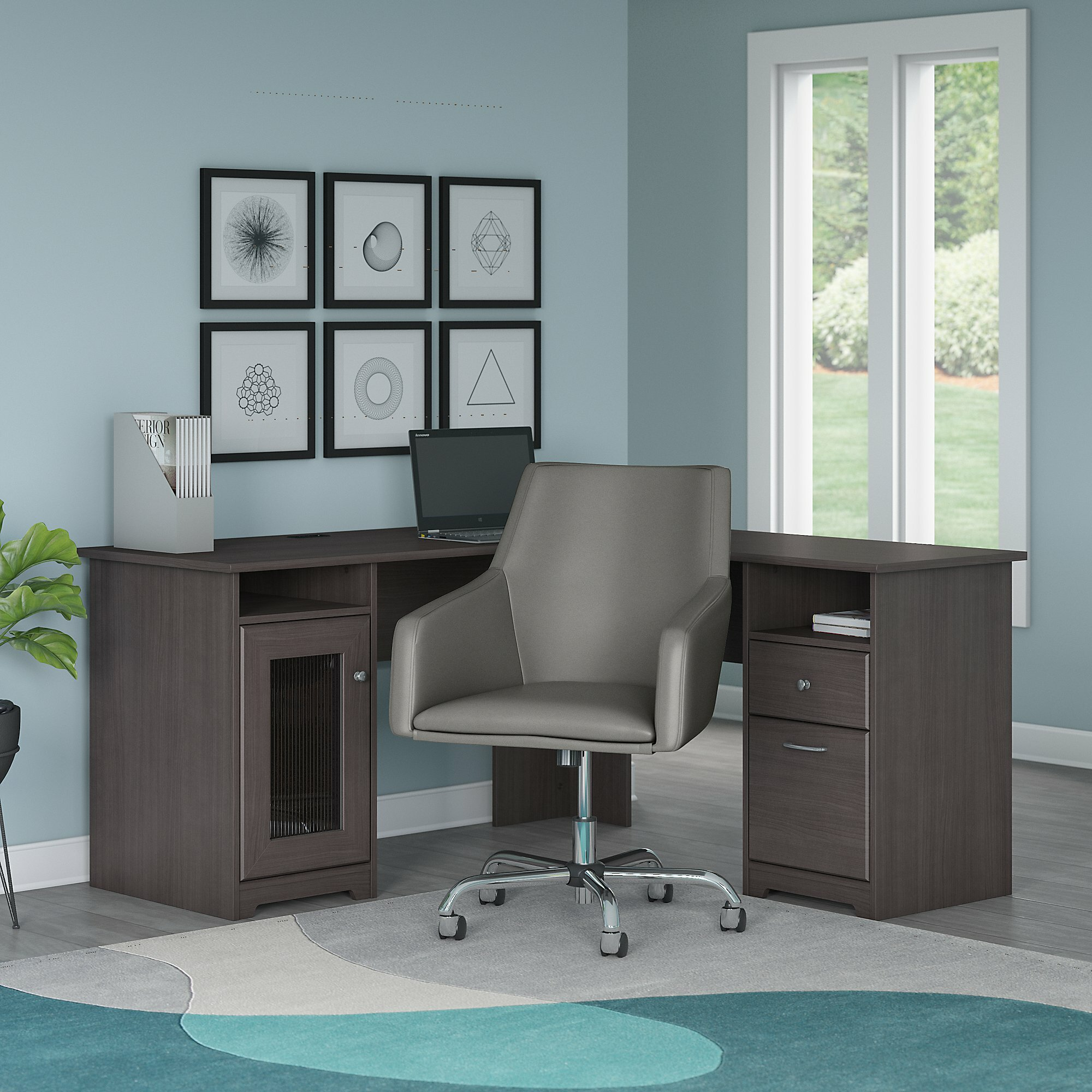 Red Barrel Studio Hillsdale L Shape Computer Desk And Chair Set Reviews Wayfair