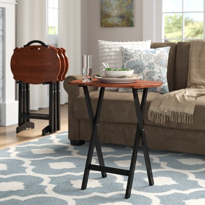 Superb Elvin Serpentine 4 Piece Tray Table Set Alcott Hill Caraccident5 Cool Chair Designs And Ideas Caraccident5Info