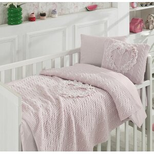 Heart Wool Blended 6 Piece Crib Bedding Set
