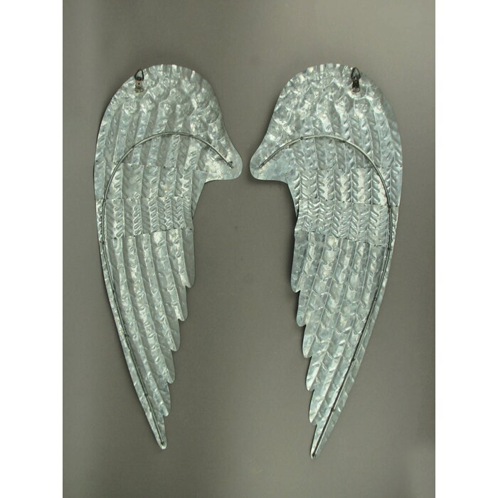 2 Piece Metal Angel Wings Wall Décor Set