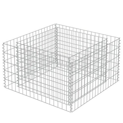 Gabion Metal Planter Box Freeport Park Size: 50cm H x 90cm W x 90cm D