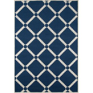 Halliday Navy/Ivory Indoor/Outdoor Area Rug