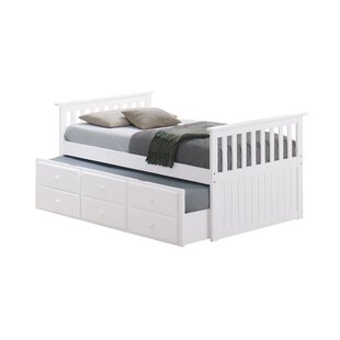 Zilla Captain's Bed with Trundle Bed and Drawers