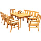 Kevon 9 Piece Teak Dining Set