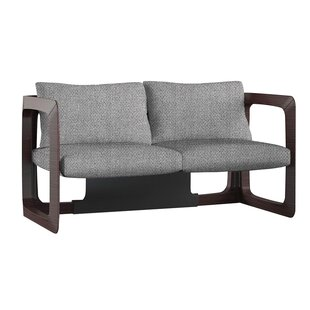Kleopatra Upholstered Wood Frame Loveseat by Brayden Studio