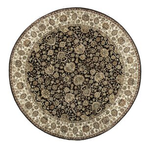 One-of-a-Kind Sona Handwoven Round 7'11 Wool Black/Beige Area Rug By Bokara Rug Co., Inc.