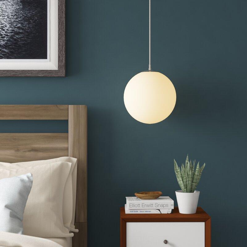 Mo 1 Light Globe Led Pendant Allmodern