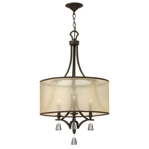 Carlock 3-Light Drum Chandelier